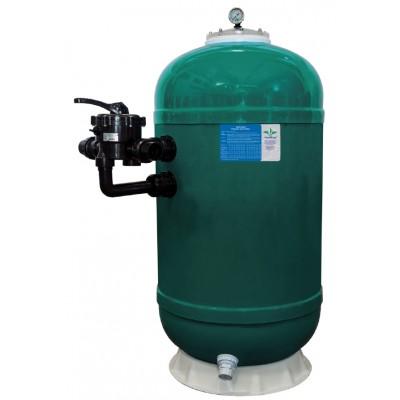 """Фильтр ламинированный d.900мм, 25.5м³/ч, выс загр. 0,70м, бок. подкл. 2"""", без вентиля"""