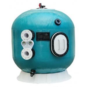 """Фильтр K1600.OZ.тд, шпул. навивки, озоноустойчивый, d.1.6м, 100м³/ч, выс. 1м, фланец 4"""", трубчатый+люк+окно, без обвязки"""