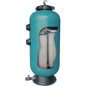 """Фильтр KD35, шпул.навивки, диатомитовый,  d.400мм, 16м³/час, 3.25м², бок.подкл.2"""", без вентиля"""