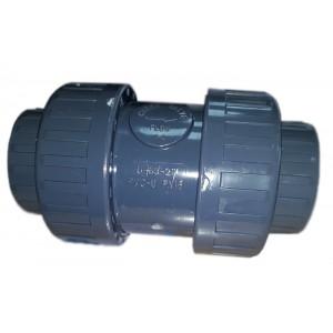 Обрат.клапан 2-х муфтовый подпружиненный ПВХ 1,0 МПа d_50
