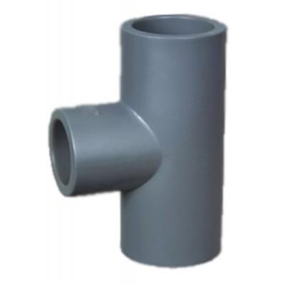 Тройник редукционный 90 ПВХ 1,0 МПа d _ 63*50мм