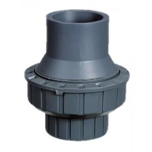 Обрат.клапан 1-муфтовый подпружиненный ПВХ 1,0 МПа d_25