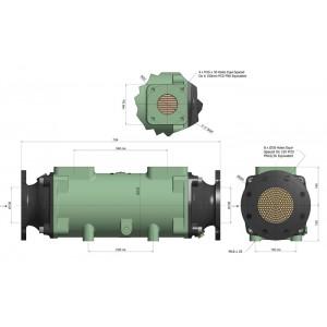 Теплообменник разборный BOWMAN  780 кВт трубки купроникель