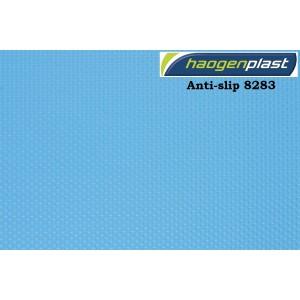 """Пленка ПВХ 1,65х25,00м """"Haogenplast"""", Blue, синий, ребристая"""