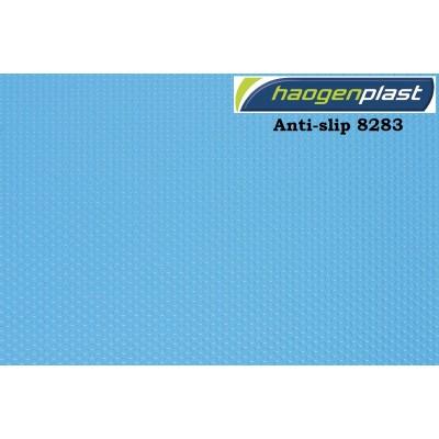 """Пленка ПВХ 1,65х10,00м """"Haogenplast"""", Blue, синий, ребристая"""