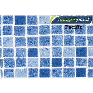 "Пленка ПВХ 1,65х25,00м ""Haogenplast"", Pacific, синяя мозаика"