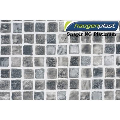 "Пленка ПВХ 1,65х25,00м ""Haogenplast"", Snapir NG Platinum, платиновая мозайка /"