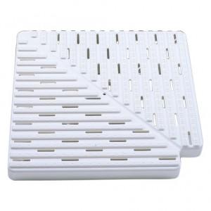 Угловая плитка 90гр. для переливной решетки, 195*22мм.