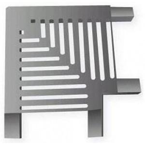 Угловая плитка 90гр. для переливной решетки 195*33мм из нер. стали AISI-304