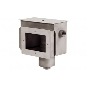 """Скиммер нерж. ст. AISI-316 с камерой долива и переливным желобом подкл. внутр. 2"""" (пленка)"""