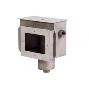 """Скиммер нерж. ст. AISI-304 с удлин. горловиной и камерой долива подкл. внутр. 2"""" (пленка)"""